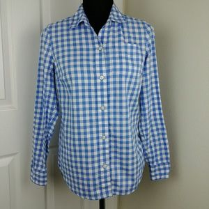 Vineyard Vines blue and white gingham button down